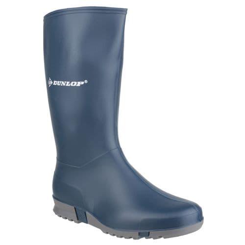 Dunlop Sport Plain Rubber Wellingtons Blue